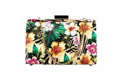 Bolsa de pitón estampado flores tropical de la colección SS14 de Claudia Estrada