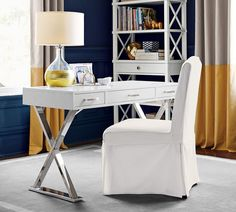 Shop Pottery Barn's home office furniture featuring desks, cabinets and storage solutions. Find office furniture perfect for creating a workspace at home. Pottery Barn Desk, Furniture, Home Office Desks, Home Office Decor, Furniture Details, Home, Desk With Drawers, Writing Desk With Drawers, Cheap Office Furniture