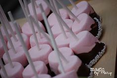 strawberry marshmallow pops for a cowgirl party