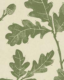Wallpaper Oakwood Olive Green Sanderson