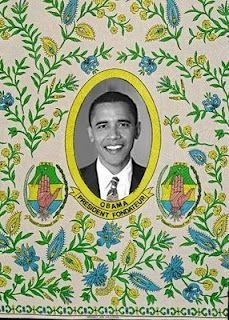 I'm on the hunt - It took nearly 10 years to locate fabric with Nelson Mandela . where is the fabric with President-Elect Obama? African Textiles, African Fabric, African Patterns, Ankara Fabric, African Theme, African Art, African Prints, Nelson Mandela, Family Tree Art