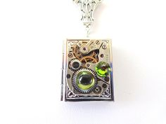 Once Upon A Time Book Locket Necklace Steampunk by Treasurebay, $52.00