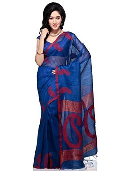 Utsav Fashion Women's Blue Pure Matka Silk Bengal Handloom Saree with Blouse Utsav Fashion http://www.amazon.in/dp/B00KV6GBPQ/ref=cm_sw_r_pi_dp_vWt1tb19RMT2NMG3