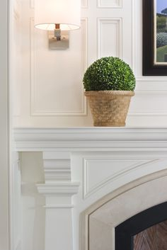 Boxwood, mantel details