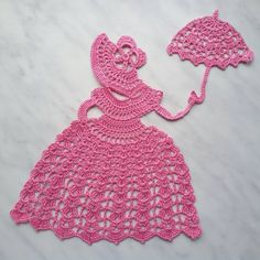Check out this item in my Etsy shop https://www.etsy.com/listing/262865383/crochet-crinoline-lady-doily-with-an