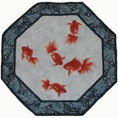 Wave quilt holy crap that 39 s cool and i will never be for Koi pond quilt pattern