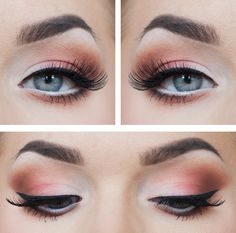 Summer makeup, touches of silver and pink.