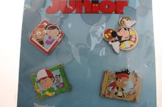 Disney Junior Booster Collection Pin Set - Mickey Mouse Clubhouse, Little Einsteins, Handy Manny, Jake & the Neverland Pirates