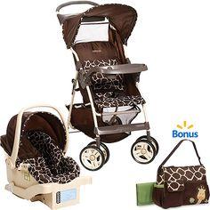 Cosco Commuter Travel System w/BONUS Diaper Bag, Quigley: Strollers : Walmart.com