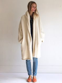 Lauren Manoogian Capote Coat - White