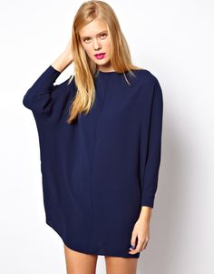Shift Dress With Batwing Sleeve. Easy, sexy and date night ready!