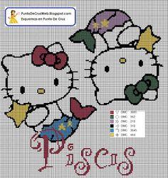 Punto De Cruz: Horóscopo Piscis De Hello Kitty