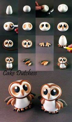 How to make owls with polymer clay