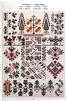Ukrainian and Romanian embroidery of Bukovyna-Bucovina Polish Embroidery, Folk Embroidery, Cross Stitch Embroidery, Embroidery Patterns, Cross Stitch Borders, Cross Stitch Charts, Cross Stitch Designs, Cross Stitch Patterns, Blackwork
