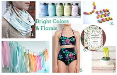 Bright Colors and Florals -2013 Trend from Etsy