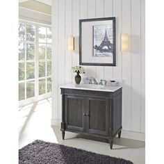"""Fairmont Designs Rustic Chic 36"""" Vanity for - Silvered Oak"""