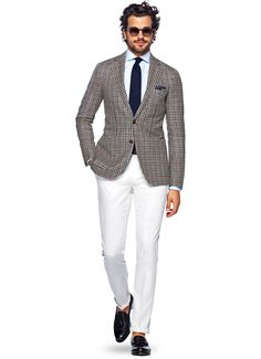 Jacket Blue And Brown Check Havana C959i   Suitsupply Online Store