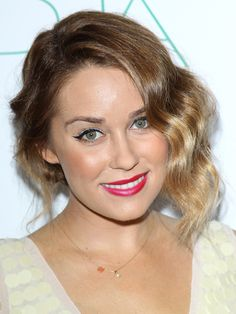 Lauren Conrad's curly updo is a simple prom hairstyle we love