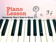 Somebody That I Used to Know- Piano Lesson Gotye (Todd Downing) - YouTube
