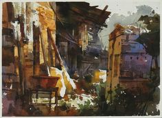 【彰化北斗老屋的色彩】27*36CM,2009 Watercolour,ARCHES ............By Chien Chung Wei