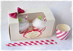Duo de bodies cupcakes pour souhaiter la bienvenue à bébé