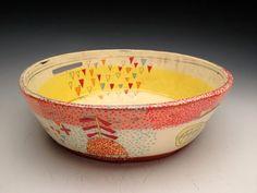musing about mud: monday morning eye candy: Kari Radasch Pottery Pots, Ceramic Pottery, Ceramic Bowls, Ceramic Art, Sgraffito, Community Art, Earthenware, Mud, Serving Bowls
