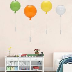 Воздушный шар люстры потолок кулон подарок декор свет современный настенный светильник светильник партия E27 25см