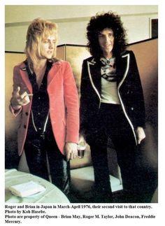 Roger and Brian Brian May, Queen Photos, Queen Pictures, John Deacon, I Am A Queen, Save The Queen, Queen Queen, Brian Rogers, Roger Taylor Queen