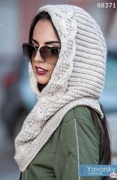 44 ideas crochet scarf cowl snood for 2019 Crochet Hooded Cowl, Hooded Scarf, Crochet Mittens, Crochet Jacket, Knitted Hats, Loom Knitting, Baby Knitting, Quick Crochet Blanket, Snood Pattern