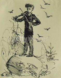 Sibelius Caricature by Gunnar Clemens