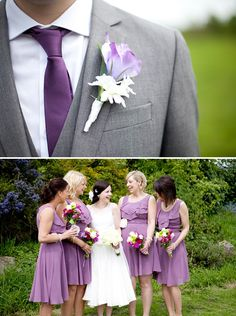 Eclectic + Colourful DIY Village Hall Wedding - with a purple color theme.