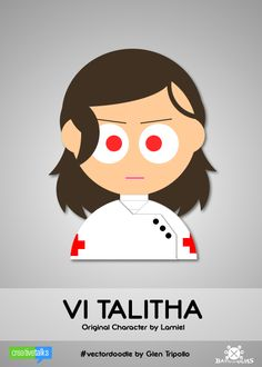 VI TALITHA, original character by Lamiel. #VectorDoodle by Glen Tripollo