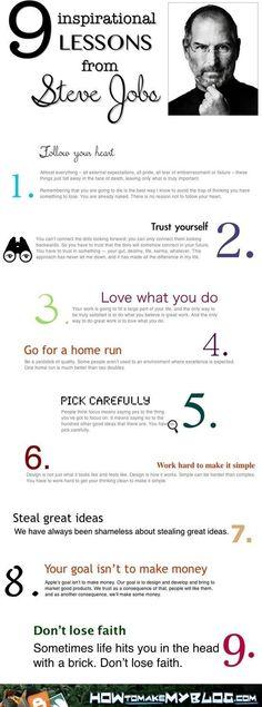 5. #Steve Jobs - 23 infographie #utiles pour aider #votre carrière...
