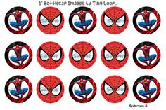 15 Spiderman Bottlecap Images 1 Circle 4x6 Instant by xTinyLoopx, $1.50