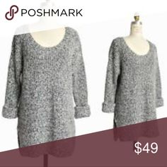 BCBGeneration knit sweater Size is marked as M/L, has a comfortable oversized fit. Cute with leggings or skinny jeans, has a tunic length. BCBGeneration Sweaters Crew & Scoop Necks