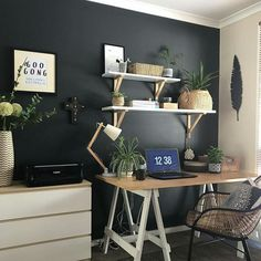 33 Best Desk in living room images Desk In Living Room, Living Room Images, Study Nook, Best Desk, Free To Use Images, My Sewing Room, High Quality Images, Office Desk, Interior Design