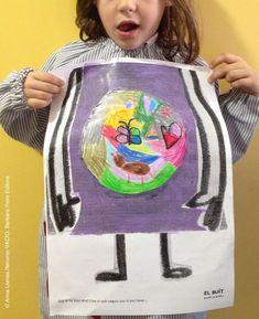 """ACTIVIDAD niños a partir 4 años: ¿Qué crees que puede haber en este espacio vacío? Crea, dibuja, construye en él. RECURSO GRATUITO basado en el Libro """"VACÍO"""" de Anna Llenas. Este recurso tiene Copyright©. Si lo imprimes o compartes no olvides citar su autoría. Anna Llenas. Barbara Fiore Editora ©2015 Paper Hand Craft, Mindfulness For Kids, Art Story, Emotion, Les Sentiments, Monster, In My Feelings, Literacy, Activities For Kids"""