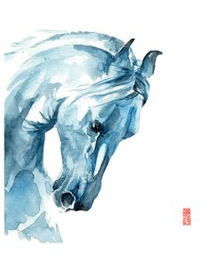The wind of heaven is that which blows between a horses ears. -Arabian Proverb  -----  This item is a giclee fine art reproduction of an original