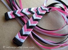 The 80s Colors  braided ribbon barrettes
