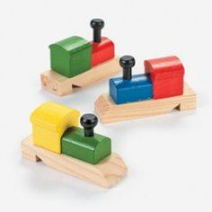 Train-Shaped Whistles (12 Pack)