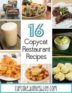 16 Copycat Restaurant Recipes | cupcakediariesblog.com
