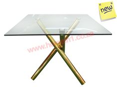 Glass dining tables with gold, silver and rosegold bases. Wide range of glass dining and cafe tables with various designs. Suppliers of wedding and event tables