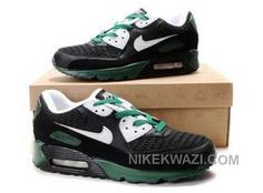 http://www.nikekwazi.com/nike-air-max-90-mens-black-white-green.html NIKE AIR MAX 90 MENS BLACK WHITE GREEN Only $82.00 , Free Shipping!