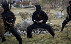 Iran's Ninja Army: 3500 Women Trained as Country's Assassins-With hundreds of women brandishing deadly weapons while performing back flips and gravity-defying stunts.