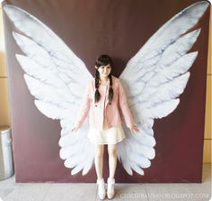 :*:・。☆ Airi's Blog ☆ 。・:*:: Snippets of Everyday Life: Angel wings mural.
