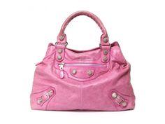 Authentic Balenciaga Giant Brief Bag Pink Lambskin Leather #Balenciaga #Handbag