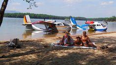 Seabee day, island in Lake James, NC