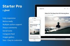 Starter Pro - Minimal Ghost Theme by byfortress on @Graphicsauthor