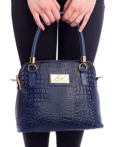 Bolsa pequena de mão em couro Andrea Vinci azul - Enluaze - Bolsas, mochilas, roupas e acessórios