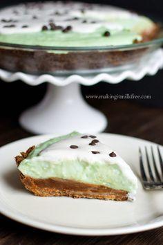 Grasshopper Pie {gluten free & vegan} @so_delicious #Pi4All